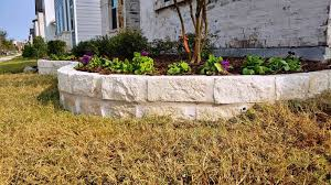 building a stone flower bed border 10