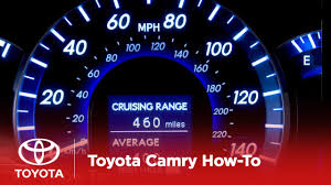 2012 Camry Hybrid How-To: Cruising Range / Average MPG | Toyota ...