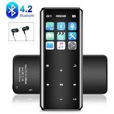 Dokunmatik ekran MP3 çalar Bluetooth müzik çalar dijital ses, HiFi kayıpsız  ses taşınabilir spor MP3 çalar FM radyo kaydedici|eBook Reader