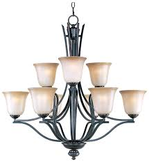 maxim 10177wsoi madera large 9 light oil rubbed bronze chandelier with shades loading zoom