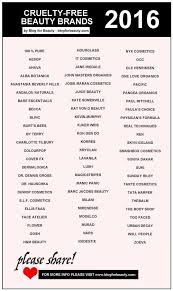 beauty brands that don t test on s list 2016