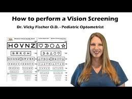 How To Use Sloan Eye Chart How To Do A Vision Screening Training Tutorial With Sloan Fischer Eye Chart