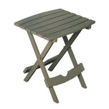 quik fold gray resin plastic outdoor side table