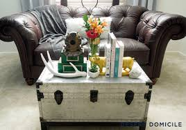 bright silver metal trunk with lots of accessories