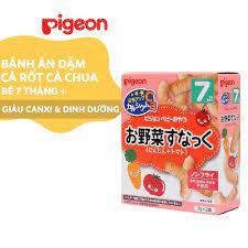 Bánh ăn dặm Pigeon cho bé vị Cà rốt và Cà chua DD10100
