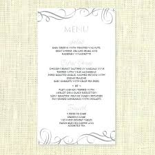 Party Menu Template Free Dinner Party Menu Template Planning Card New Resume