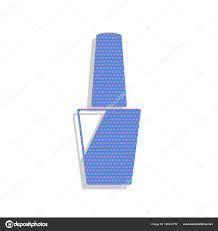 Lak Na Nehty Znamení Vektor Neon Modré Ikony S Brambořík Polka Dot