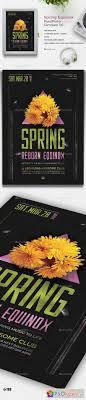flyer page photoshop vector stock image via spring equinox flyer template v6 19373230