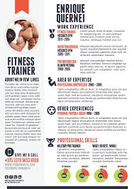 Fitnesstrainer Resume Templates