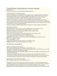 Linux System Administrator Resume Sample Linux System