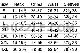 Dress Size Chart Mens Complete Mens Shirt Size Chart And Sizing Guide All Guys