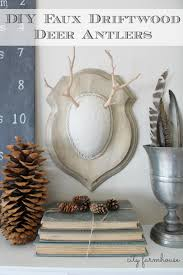 diy faux driftwood deer antlers easy holiday project city farmhouse