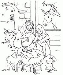 Small Picture Nativity Scene Coloring Pages Printable Archives Inside Nativity