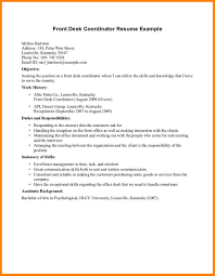 8 9 Front Desk Resume Sample Formsresume Hotel Front Desk R Sevte