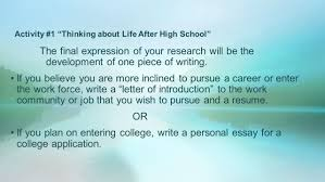 what s next thinking about life after high school ppt video activity 1 thinking about life after high school