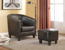 Leather Accent Chair With Ottoman Amazoncom Container Furniture Direct Isabella Collection 2 Piece