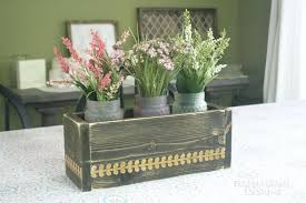 centerpiece flower box finished diy dollar tree flower box centerpiece diy