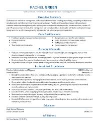 Resume Medical Practice Administrator