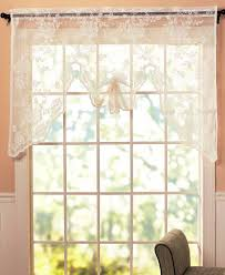 abbey rose vintage lace curtain ivory swag