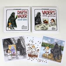 darth vader son vader s little princess deluxe box set includes two art prints star wars jeffrey brown 9781452144870 amazon books