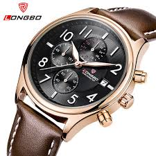 top designer watches for men promotion shop for promotional top top watches men longbo luxury brand designer leather fashion quartz watch men waterproof sport wristwatch male relogio masculino