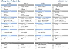 Weekly Household Chores House Chores List Template Cheapscplays Com