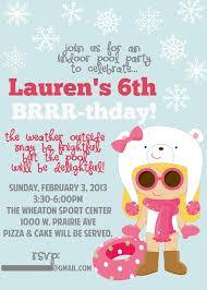 Snowflake Birthday Invitations Snowflake 6th Birthday Invitations Free Printable Birthday