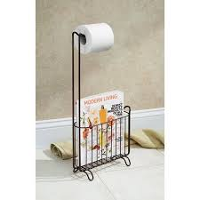 Toilet Paper Holder With Magazine Rack InterDesign Classico Toilet Paper Roll Holder with Magazine Rack 4