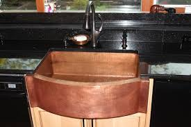 33 rounded front flat ends copper farmhouse sink