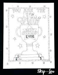Free Printable Teacher Appreciation Coloring Pages Best Page Skip To