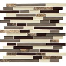 american olean mosaic cau emperador linear mosaic stone and glass marble wall tile common