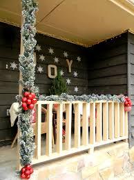 Front Porch Railing Christmas Decorating Ideas