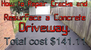 driveway resurfacing cost. Delighful Resurfacing HOW TO REPAIR CRACKS AND RESURFACE A CONCRETE DRIVEWAY And Driveway Resurfacing Cost