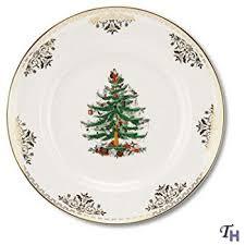 Spode Christmas Tree Gold Dinner Plate