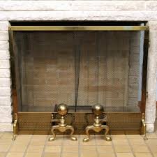 antique brass fireplace screens irons antique victorian pierced brass fan fireplace screen