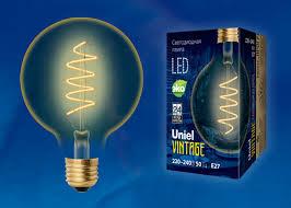 <b>Лампа</b> светодиодная <b>LED</b>-<b>G95</b>-<b>4W</b>/<b>GOLDEN</b>/<b>E27</b>/CW GLV21GO ...