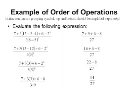 3 example of order of operations evaluate the following expression
