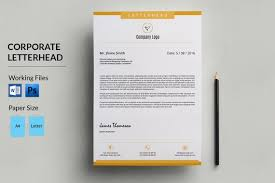 Corporate Letterhead Template Corporate Letterhead Template Business Letterhead Company Etsy