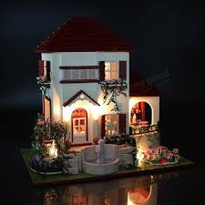 diy doll houses wooden doll house uni 3d dollhouse furniture kids toy miniature kit craft