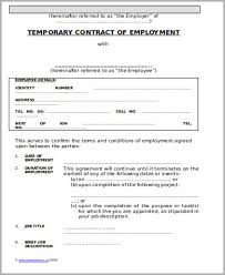 Temporary Employment Contract Template Temporary Employment Contract Sample 10 Examples In Word