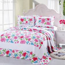 summer blanket for bed. Delighful Bed WholesaleCotton Summer Blanket Quilted Counterpane Floral Patchwork Quilt  Bed Sheet Set By Pillowcase Adult Cover Bedspread Diaper  In For