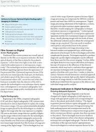 Pediatric Technique Chart Digital Radiography Has Become The Norm In U S Pdf