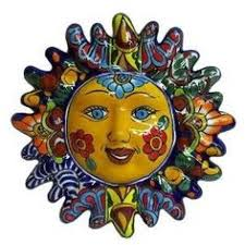 mexican folk art talavera 12 inch sun face with rays wall decor detailed assorted colors on mexican talavera wall art with 27 best talavera art images on pinterest mexican tiles sun shine