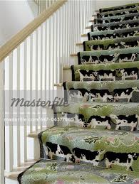 Patterned Stair Carpet Fascinating Stairways Wood Stairs White Banister Wtih Natural Wood Rail