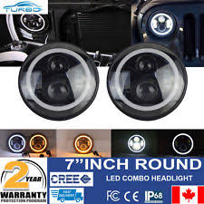 jeep wrangler headlight wiring harness 2x 7 inch cree led headlight angel eye amber halo drl jeep wrangler jk tj