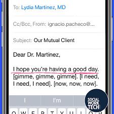 Social Worker Email Etiquette Social Work Tech