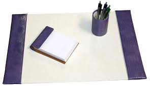 small 3 piece reptile grain leather desk pad sets with free in the continental united states