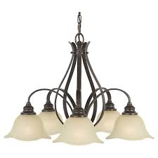 feiss morningside collection 5 light kitchen chandelier in bronze transitional chandeliers chandeliers