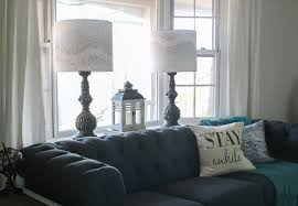 lamps with diy lampshades in living room