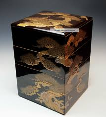 Stacking Boxes Decorative Exquisite Antique Japanese Lacquered Wood Jubako Edo Taka Makie 31